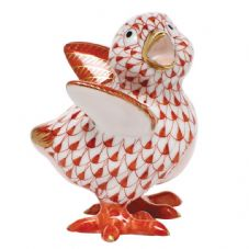 Herend Porcelain Fishnet Figurine of a Little Chick